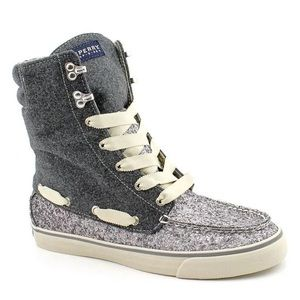 Sperry Acklins High Top Sparkle Ankle Boot Shoe